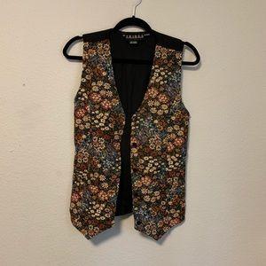 90's Vintage Floral Vest